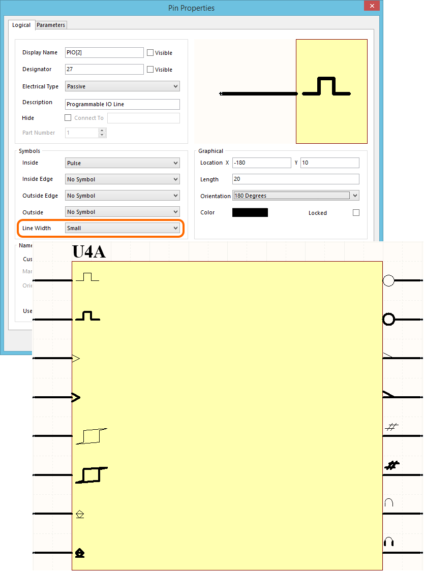 Pin Documentation Circuitmaker Electrical Bus Symbol Schematics What Does This Indicate Use The Line Width Property Available In Symbols Region Of Properties Dialog To Determine Used Draw These